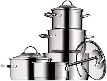 Набор кастрюль WMF Provence Plus из 5 предметов нержавеющая сталь Cromargan стеклянные крышки 07.2105.6380