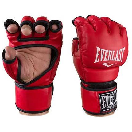 Перчатки единоборств красные Everlast MMA, DX364, размер XL, фото 2