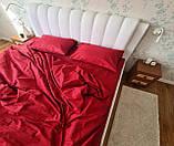 Комплект постельного  белья Страйп Сатин Серо - синий, фото 5
