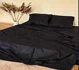 Комплект постельного  белья Страйп Сатин Серо - синий, фото 7