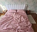 Комплект постельного  белья Страйп Сатин Серо - синий, фото 10