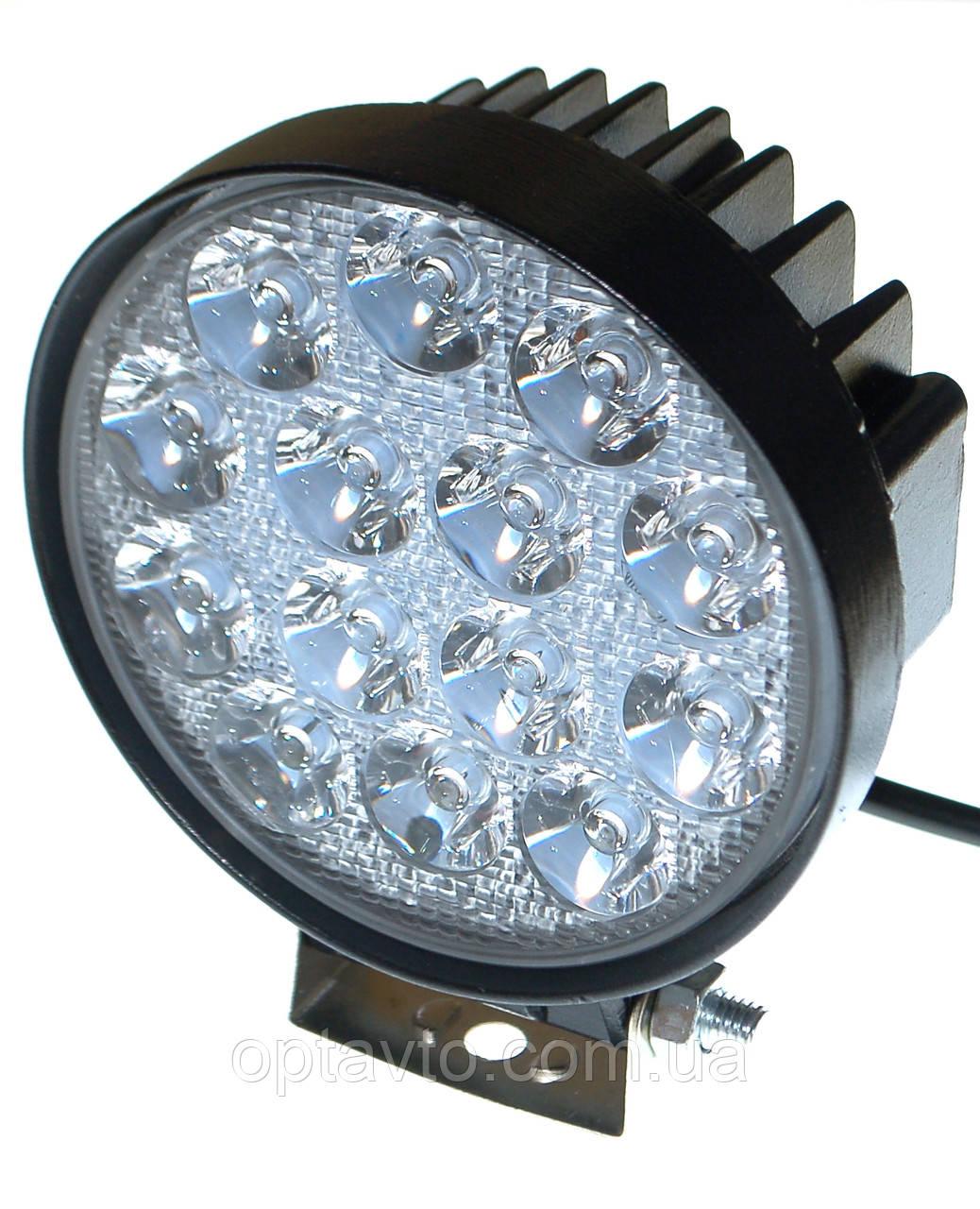 Светодиодная фара 42W. LED (лэд) фара 12В и 24В. Корпус МЕТАЛЛ. Диоды EPISTAR, OSRAM, CREE.