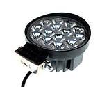 Светодиодная фара 42W. LED (лэд) фара 12В и 24В. Корпус МЕТАЛЛ. Диоды EPISTAR, OSRAM, CREE., фото 3