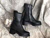 Кожаные женские сапоги очень стильная модель 3393 ч/к размеры 36,37,38,39,40, фото 1