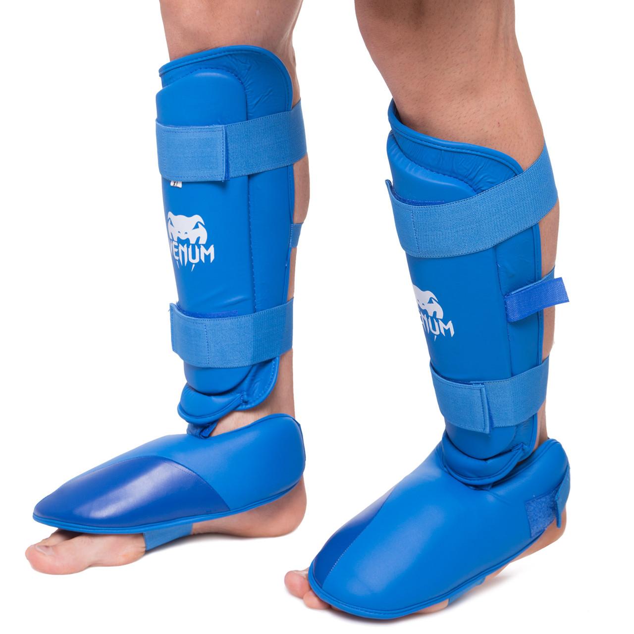 Защита голени с футами для единоборств PU VNM (р-р S-XL, цвета в ассортименте)