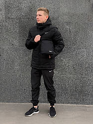 "Зимовий комплект ""Euro"" чорна + штани President. Барсетка у подарунок!"
