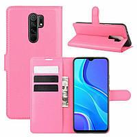 Чехол Fiji Luxury для Xiaomi Redmi 9 книжка розовый