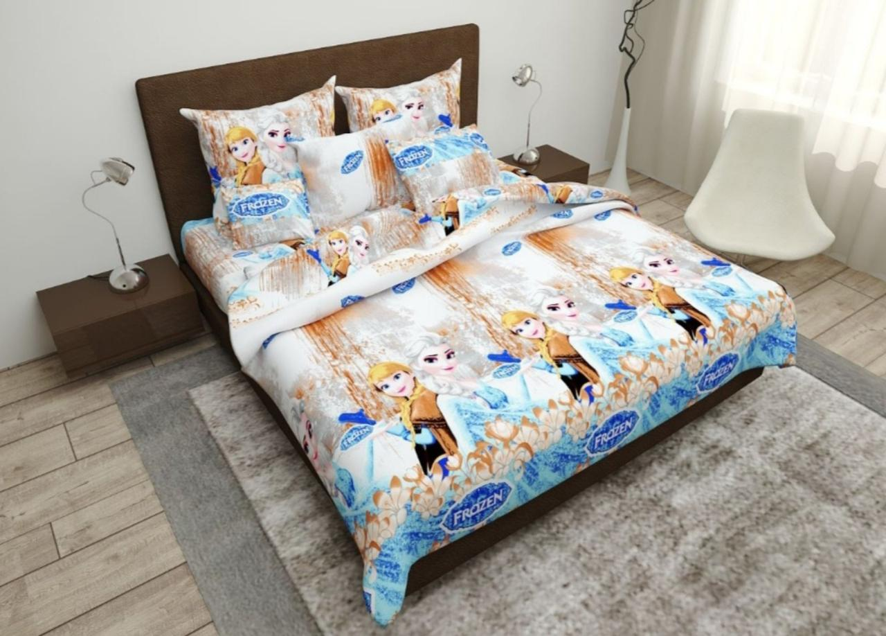 Комплект постельного белья подростковый  полуторный Анна - Эльза
