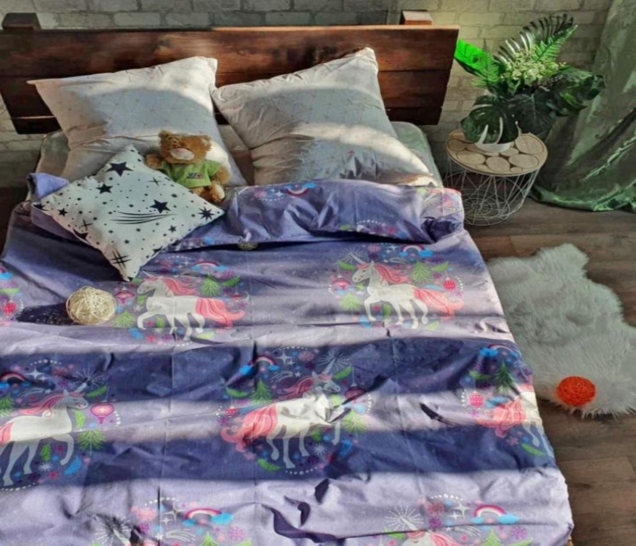 Комплект постельного белья подростковый  полуторный Единорог