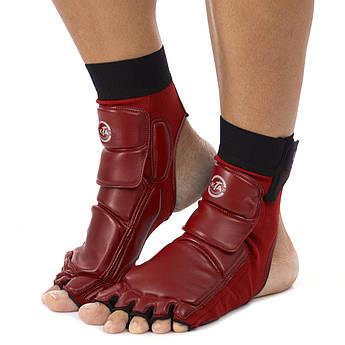 Защита стопы носки-футы для тхэквондо (9) (PU, р-р 6 (38-39) - 9 (43-44) (260-295мм), цвета в ассортименте)