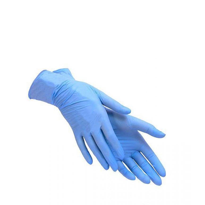 Перчатки нитриловые Care365 стандарт M 100 шт Голубые (365M)