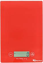 Электронные кухонные весы на 5 кг AMR CK-1912 красный