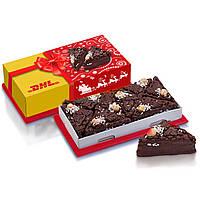 Торт шоколадный на основе вафель и начинки из пралине в брендированной коробке