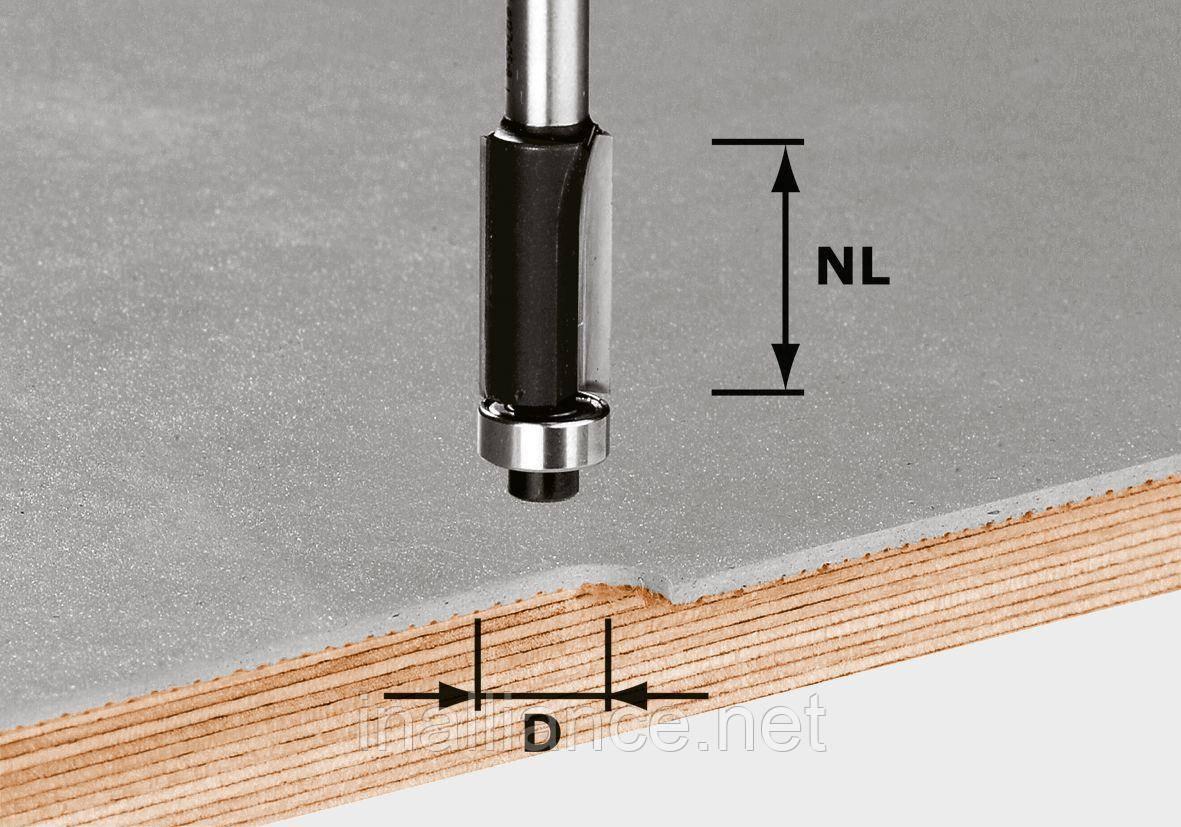 Пригоночная фреза с нижним опорным подшипником HW S8 D12,7/NL25 хвостовик 8 мм Festool 491027