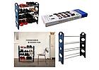 ОПТ ОПТ Полиця для взуття органайзер Amazing Stackable Shoe Rack 4 полки, на 12 пар, фото 2