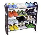 ОПТ ОПТ Полиця для взуття органайзер Amazing Stackable Shoe Rack 4 полки, на 12 пар, фото 3