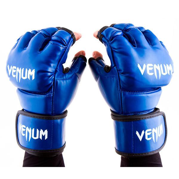 Перчатки единоборств синие Venum MMA, DX364, размер L