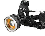 Налобный фонарик Police BL- T619 (2 зарядных, 2 аккумулятора), фото 6