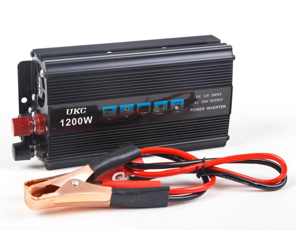 Перетворювач напруги(інвертор) UKC 12-220V 1200W + USB Black (1881)