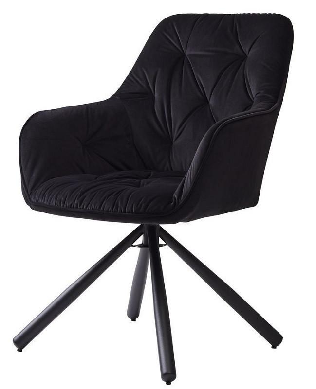Кресло поворотное Cody черное (112822) велюр Concepto