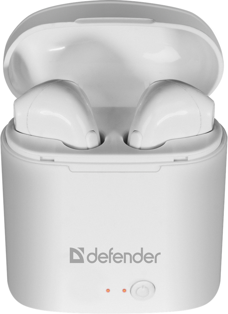 Гарнитура Defender Twins 630 TWS Bluetooth, White (63630) (6514120)