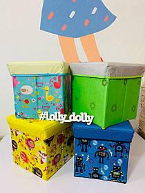 Пуфик ящик для хранения игрушек C 36526