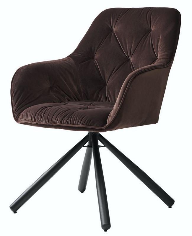 Кресло поворотное Cody шоколадное (112824) велюр Concepto