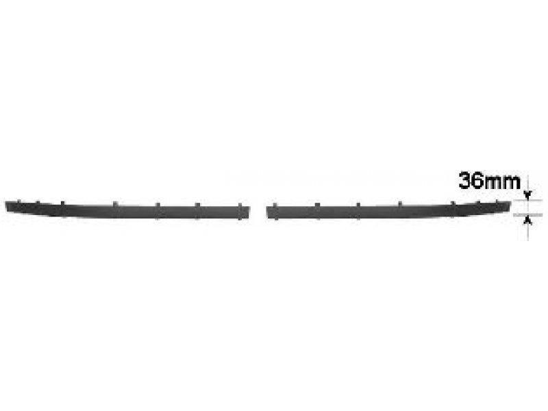 Накладка бампера пер. лев. BMW 5 E39 (Tempest) ЧЕРН. 36mm (ПІД МОЛДИНГ)