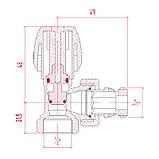 """Кран радиаторный Icma 1/2"""" с антипротечкой угловой №1116, фото 2"""