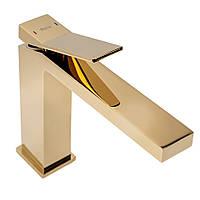 Смеситель для умывальника Rea Duet gold Золото, фото 1