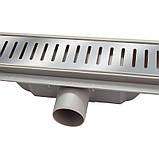 Трап линейный Qtap Dry FA304-900 с нержавеющей решеткой 900х73, фото 4