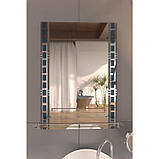 Зеркало Lidz (WHI)-140.07.06 с полкой 700х500, фото 3