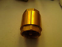 Клапан обратный муфтовый Ду 25 вставка  латунь