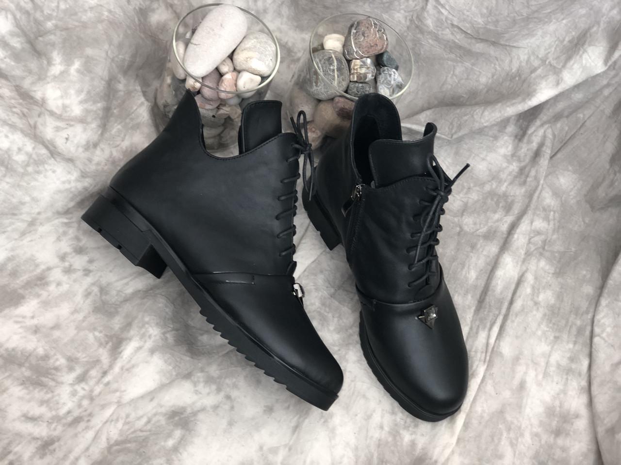 Кожаные женские демисезонные ботинки Salina 5583 ч/к размеры 37,38,39,41