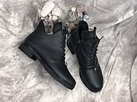 Кожаные женские демисезонные ботинки Salina 5583 ч/к размеры 37,38,39,41, фото 1