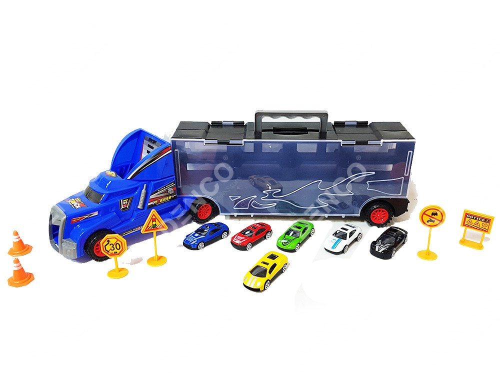 Автовоз Hot Wheels синий 8820 с машинками