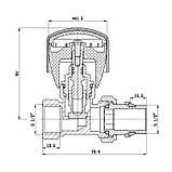 """Кран радиаторный SD Forte Powerful 1/2"""" с антипротечкой прямой, фото 2"""