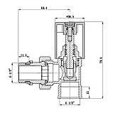 """Кран радиаторный с антипротечкой SD Forte 1/2"""" угловой хром, фото 2"""