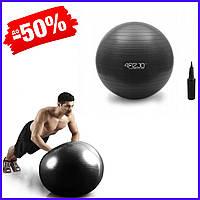 Гимнастический мяч для фитнеса 4FIZJO 85 см Anti-Burst Black, фитбол для спины, беременных и похудения
