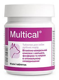 Витаминно-минеральный комплекс для собак мини пород Dolfos Multical mini Мультикаль мини 90 табл.