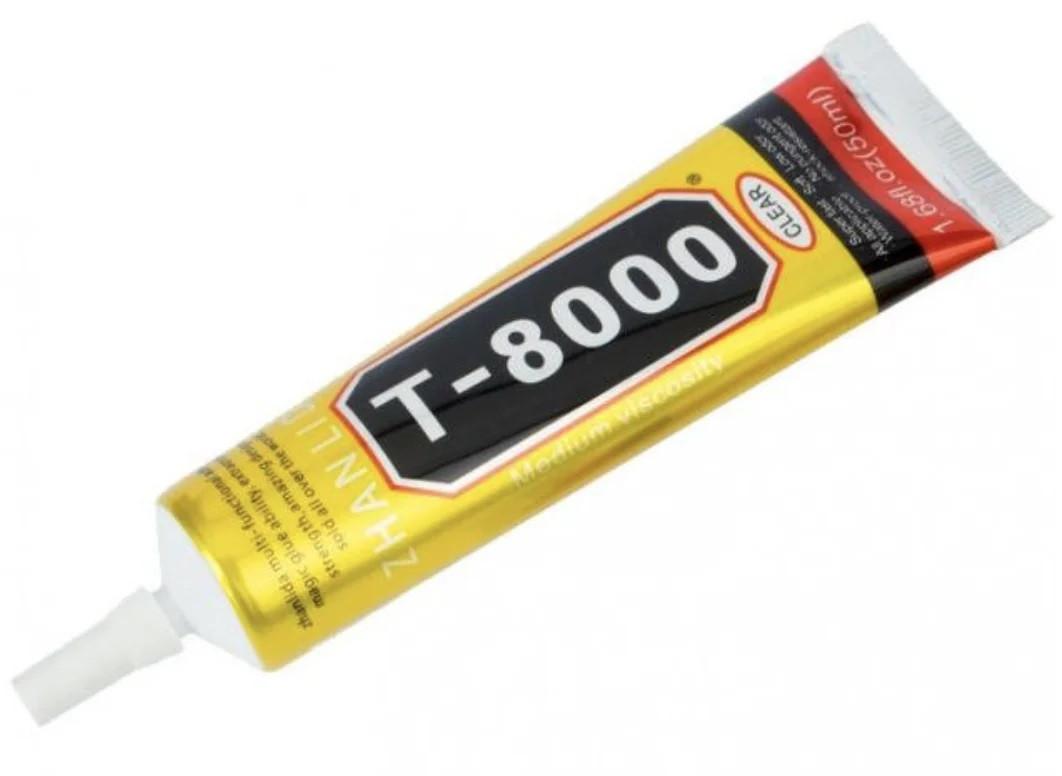 Клей герметик для проклейки тачскринов Т-8000 , черный, 50 мл T8000