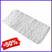 Коврик Bathlux Flowers 40241 антискользящий резиновый на пол в ванную и душевую кабину 36х75 см