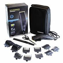 Машинка для стрижки волос Igemei GM-835, 10 насадок