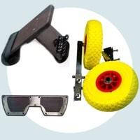 Транец, транцевые колеса и детали к ним