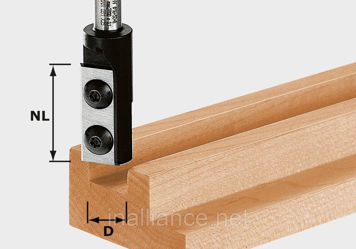 Фреза пазова однорізцева зі змінними ножами HW D18/30 S8 хвостовик 8 мм Festool 492717