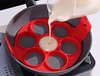 Силиконовая форма/блинница FLIPPIN FANTASTIC, Форма для блинов, аладий, сырников, Форма для жарки яиц! Хит