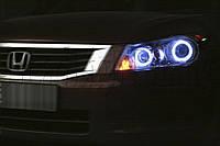 """Honda Accord EX 2,4 USA - установка биксеноновых линз Moonlight SUPER G5 2,5"""" H1 в фары"""