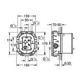 Универсальная внутренняя часть термостатического смесителя Grohe Rapido T 35500000, фото 2