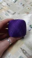 Нитки ирисовые для вязания YarnArt Iris. 20 г. 138 м. Цвет - фиолетовый. Хлопок