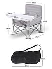 ОПТ Детский складной стул для кормления Baby seat Pro тканевый стул с алюминиевыми ножками серый, фото 3